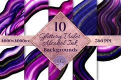 Glittery Violet Alcohol Ink Backgrounds - 10 Image Set Product Image 1