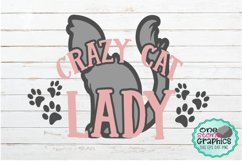 Crazy cat lady svg,cat,paw print svg,cat svg,crazy cat lady Product Image 1