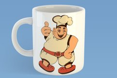 Clipart/Character with a fat chef with thumbs up Product Image 5