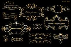 Set of decorative elements and frames. Vintage. Product Image 4