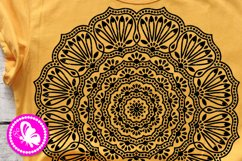 Indian Mandala Flowers svg floral decor Meditation Yoga Png Product Image 1