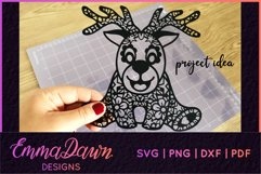 RUFUS THE REINDEER SVG CHRISTMAS MANDALA ZENTANGLE DESIGNS Product Image 10