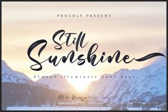 Still Sunshine // Script Font Product Image 1
