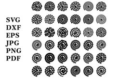 Rolled Paper Flowers SVG. Rolled Flower SVG. Papercut Flower Product Image 2