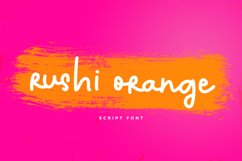 Rushi Orange Font Product Image 1