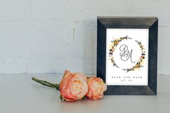 6 Golden Noir Wedding Monograms IX Product Image 5