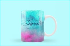 Turquoise Watercolor Background, Sublimation Watercolor Product Image 5