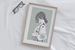 Art Print | Wall art Girl fashion,Minimalist Artwork Product Image 5