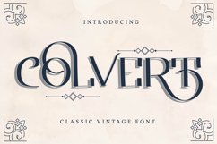 Colvert | Classic Vintage Font Product Image 1