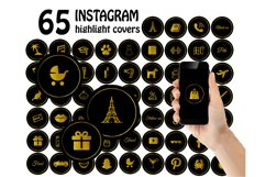 black gold instagram highlight covers .JPG Product Image 1