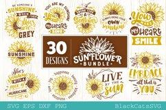 Sunflower SVG bundle 30 designs sunshine SVG bundle Product Image 4