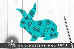 Easter Bunny SVG Easter Clipart SVG Buffalo Plaid Bunny SVG Product Image 3