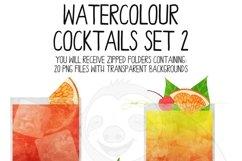 Watercolor Cocktails Clip Art Set 2 Product Image 3