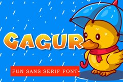 Cagur - Display Font Product Image 1