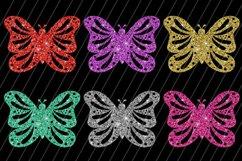 Glitter Butterflies Clip Art / 6 PNG Transparent Backgroun Product Image 2