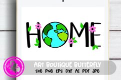 Home decor svg Earth day Green Planet Recycling Png Globe Product Image 1