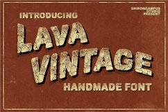 Web Font VINTAGE LAVA Bonus Text Effect Product Image 1