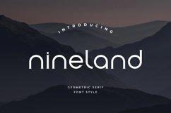 Nineland Modern Geometric Serif Font Product Image 1