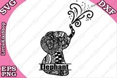 Baby Elephant Monogram Svg,Mandala Elephant Svg,Elephant Svg Product Image 1