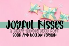 Web Font Joyful Kisses - A Quirky Hand-Lettered Font Product Image 1