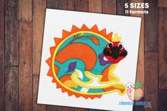 A Dinosaur In Lineart With Colors Applique Product Image 1