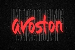Web Font Avoston - Sans Font Product Image 1