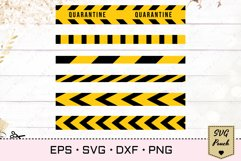 Caution do not cross tape SVG Product Image 1