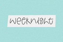 Weeknight - A Fun Handwritten Font Product Image 1
