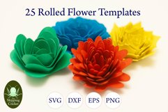 25 Rolled flowers svg, cutfiles, paper craft templates Product Image 2