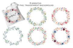 Watercolor flowers set Summer, hand painting. Product Image 4