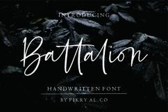 Battalion // handwitten font Product Image 1
