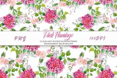 Pink Flamingo Seamless Patterns Product Image 3
