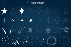 50 Stars and Sparkles Stamps and Brushes for Procreate Product Image 3