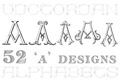 Victorian Alphabets Pack 123AB Product Image 4