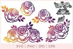 Roses SVG, Rose SVG, Flowers SVG, rose cut file Product Image 1