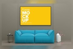 3D Rendered Interior Living Room Mockup Product Image 1