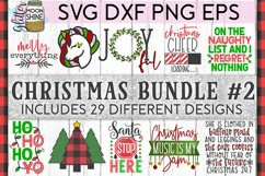 Big Christmas Bundle of 29 SVG DXF PNG EPS Cutting Files #2 Product Image 1