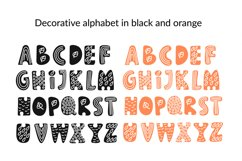 CUTE AUTUMN KITTY Clipart Pattern Alphabet Vector Animation Product Image 2