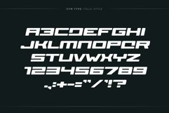 GYM Awesome Font Product Image 3