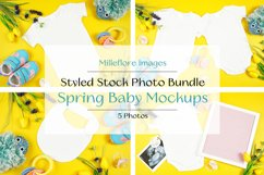 Baby Wear Onesie Bodysuit Bib Mockup Styled Photo Bundle Product Image 1