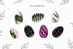 Birds vector collection, Spring Easter clipart, Summer leave Product Image 4