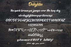 Delightin   Foody Brush Lettering Script Font Product Image 6
