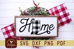 Indiana Buffalo Plaid State Home SVG DXF Cut File Product Image 1