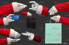 Christmas overlays Santa Claus Hand clipart png Photoshop Product Image 3