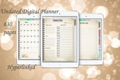 Daily Planner Goodnotes Undated, Hyperlinked,Xodo Product Image 1