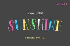 Sunshine Font Product Image 1