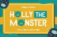 Web Font Holly The Monster Font Product Image 1