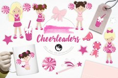 Cheerleaders graphics and illustrations Product Image 1