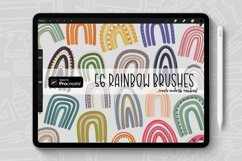 56 Brushes, Rainbow Procreate Brush/Stamp Bundle Product Image 1