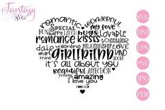 Girlfriend Word Art - Svg Cut Files Product Image 1